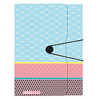 Папка на резинке Herlitz А4 Graphic Pastel Blue