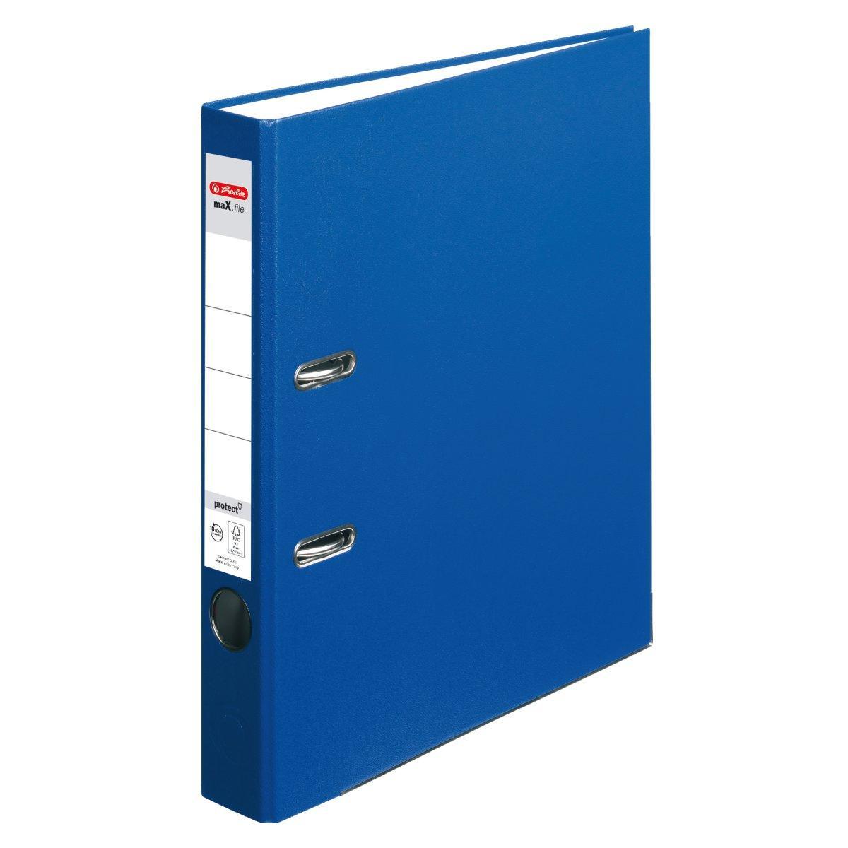 Папка-регистратор Herlitz А4 5см Protect синяя