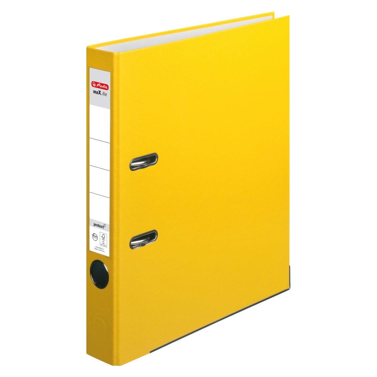 Папка-регистратор Herlitz А4 5см Protect желтая