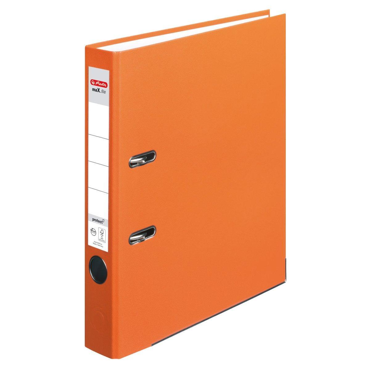 Папка-регистратор Herlitz А4 5см Protect оранжевая