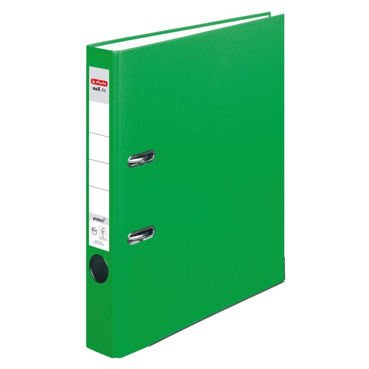 Папка-регистратор Herlitz А4 5см Protect светло-зеленая