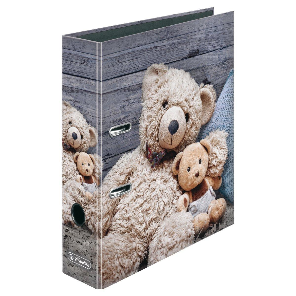 Папка-регистратор Herlitz А4 8см Winter Cozy Teddy Bear