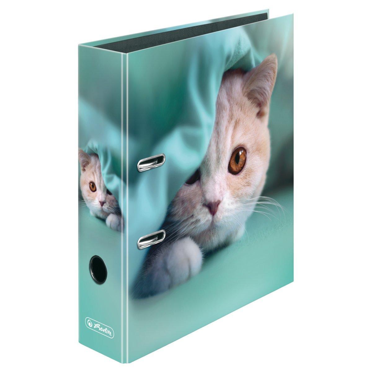 Папка-регистратор Herlitz А4 8см Winter Cozy Kitten