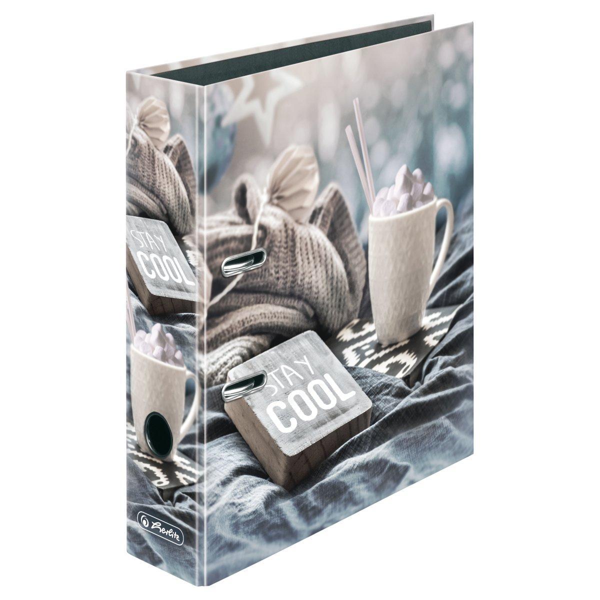 Папка-регистратор Herlitz А4 8см Winter Cozy Stay Cool
