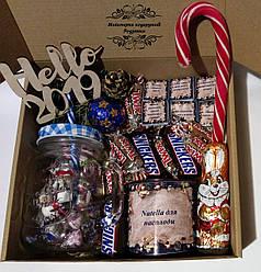 Подарунковий новорічний набір Sweet Box №11. Подарунок на Новий рік
