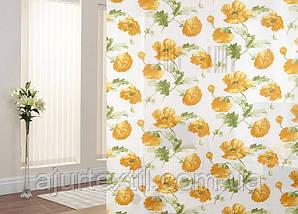 """Тюль печать """" Маки """" желтые, фото 2"""