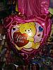 Шар Мишка с сердцем  ILY, наполненный гелием