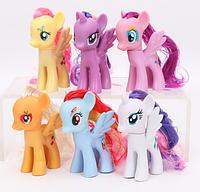 Набор пони 6 штук - 8 см. My Little Pony Мой маленький пони Игрушка для девочек Единорог, фото 1