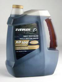 Масло Evinrude Johnson XD-100 – для 2-х тактных подвесных двигателей при высоких нагрузках 3,79 л, фото 2