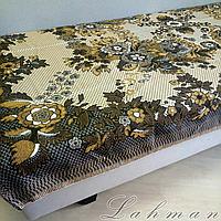 Гобеленовое плед-покрывало полуторка, капа 150х200 см. для кровати, дивана, пляжа, пикника