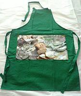 Набор фартуков для кухни Arya 4 шт.  Green (коричневый, красный, зеленый и синий)