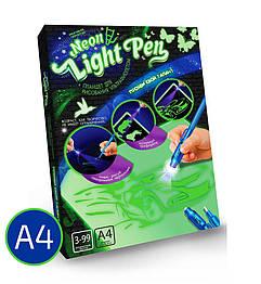 Волшебная интерактивная доска  для рисования рисуй светом А4. Оригинал Made in Ukraine, neon light pen