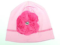 Шапка для девочки Лайкра Двойная Розовая