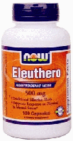 Корень элеутерококка, Now Foods, Eleuthero, 500 mg, 100 Caps
