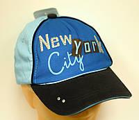 Бейсболка Nowy Jork Голубая
