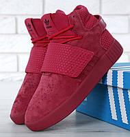 Женские кроссовки в стиле Adidas Tubular Invader Strap Red