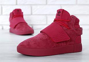 Женские кроссовки Adidas Tubular Invader Strap Red, фото 2