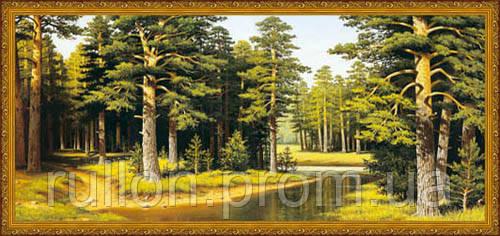 Картина YS-Art CA080-6 Лес 33x70 (Пейзаж, золотистая рамка)