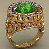 Кольцо мужское серебряное Корона Владыки, фото 5