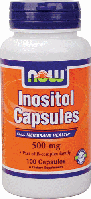 Инозитол, Now Foods, Inositol, 500 mg, 100 Caps