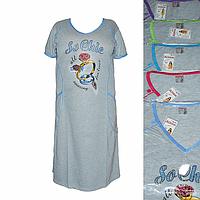 K19. Женская котоновая ночная рубашка оптом со склада на 7км.