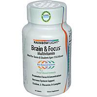 Витамины для мозга для подростков, Rainbow Light, 90 таблеток