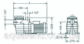 Насос Caribe СК100 Kripsol циркуляционный 1,1кВт, 17,2м3/ч, фото 2