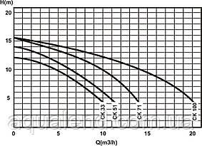 Насос Caribe СК100 Kripsol циркуляционный 1,1кВт, 17,2м3/ч, фото 3