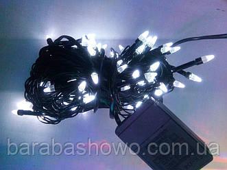 Гирлянда ЕЛКА 200 LED на черном проводе, белая