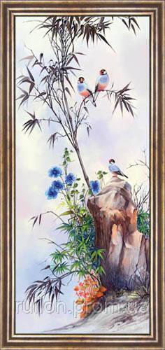 Картина YS-Art CA166-2 33x70 (коричневая рамка)