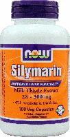 Силимарин, Now Foods, Silymarin, 2X-300 mg, 100 Veggie Caps