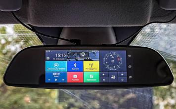 """Автомобильный видеорегистратор, зеркало K35 (LCD 7"""", GPS)"""
