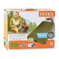 Надувная односпальная кровать матрас Intex 68725
