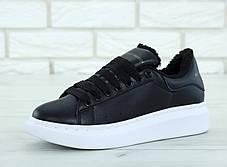 Женские кроссовки Alexander McQueen Oversized Sneakers Black  Winter. ТОП Реплика ААА класса., фото 3