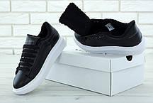 Женские кроссовки Alexander McQueen Oversized Sneakers Black  Winter. ТОП Реплика ААА класса., фото 2