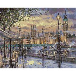 "Картина по номерам Идейка ""Вечерний Лондон"" 40х50см КНО3513"