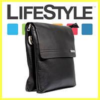 Стильная брендовая мужская кожаная сумка Polo Prime
