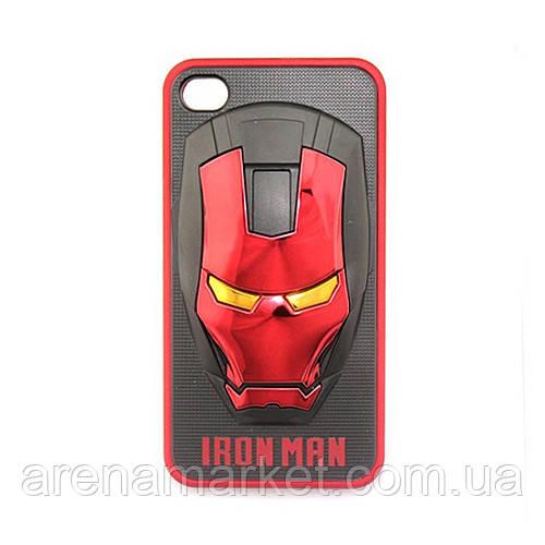 "Чехол 3D ""IRON MAN"" для iPhone 4/4S"