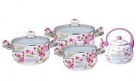 Набор посуды эмалированной 7 предметов Kamille 5902B