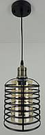 """Люстра потолочная подвесная в стиле """"LOFT"""" (лофт) (30х16х16 см.) Матовый черный YR-12056/1"""