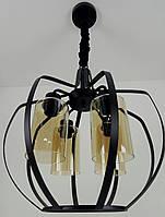 """Люстра потолочная подвесная в стиле """"LOFT"""" (лофт) (55х42х42 см.) Матовый черный YR-11809/4"""