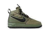 Мужские зимние кроссовки Nike Lunar Force 1 Duckboot 17 Green (Реплика Люкс)