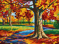 """Схема для полной зашивки бисером - """"Осенний парк"""""""