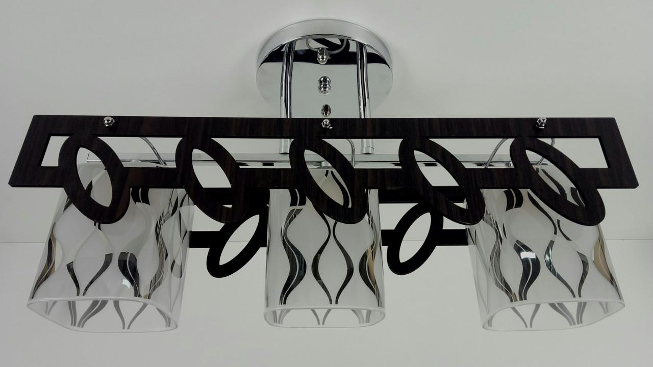 Люстра потолочная на 3 лампочки 6174/3-ch Хром 27х14х49 см.