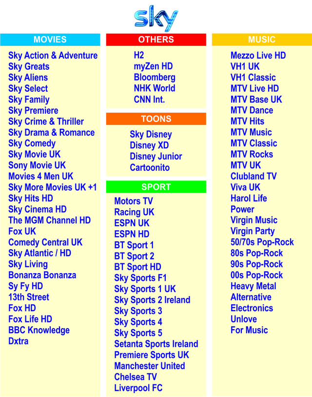 SKY UK IPTV 80 Channels, цена 2 760 грн , купить в Киеве