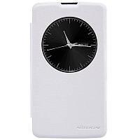 Кожаный чехол книжка Nillkin Sparkle для LG L Fino Dual D295 белый, фото 1