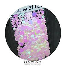 KATTi Блестки в пакете 1637 розовый единорог жемчужные круглые микс 1-2-3мм, фото 3