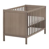 SUNDVIK  Кроватка детская, серо-коричневый