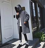 Мужской молодежное очень свободное пальто с большими карманами, фото 2