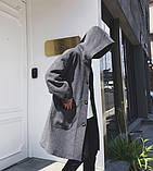 Мужской молодежное очень свободное пальто с большими карманами, фото 3